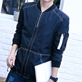 Men's Jacket 2016 New Arrival Spring Causal Thin Slim Solid Stand Collar Outerwear Chaqueta M-4XL Size