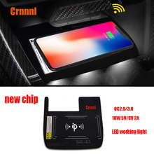 QI Special on-board wireless phone charging panel Mobile stents Car Accessories for Honda Civic 10th 2016 2017 2018