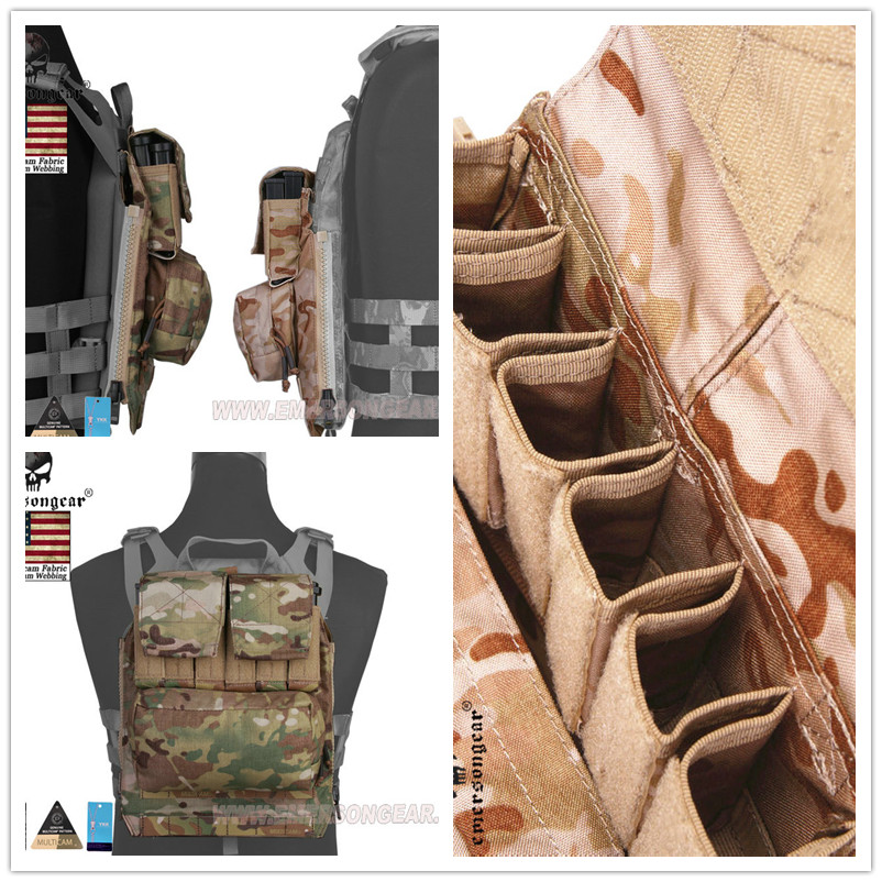 2017 Emersong Back Pack Zip on Panel FOR AVS JPC2.0 CPC Hunting Airsoft Paintball Combat Gear Multicam Black Coyote Brown цена
