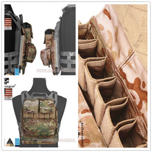 2016 Emersong Back Pack Zip on Panel FOR AVS JPC2.0 CPC Hunting Airsoft Paintball Combat Gear  Multicam Black Coyote Brown camelbak motherlode hydration cargo pack coyote big bite valve molle attachment back panel