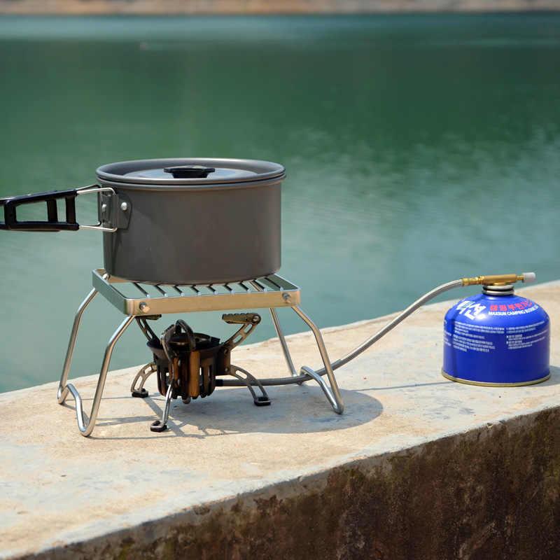 Outdoor Mini Kecil Portabel Lipat Stainless Steel BBQ Bracket Barbekyu Set Pot Bracket Barbekyu Nampan Bracket Panggang Net