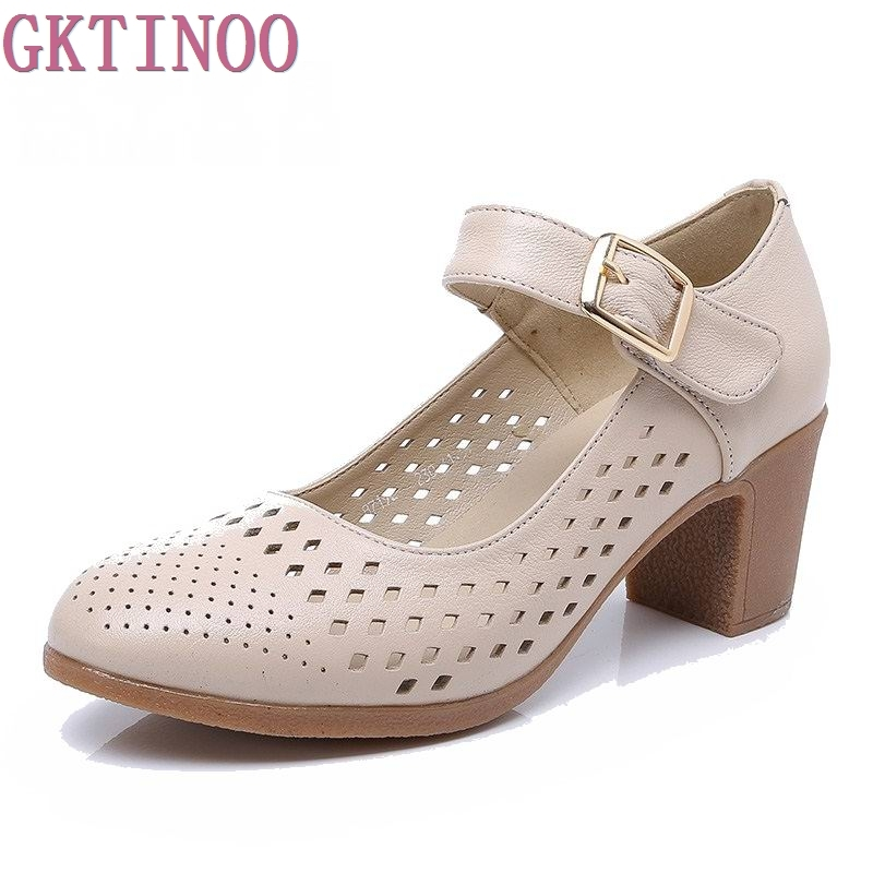 Women shoes summer sandals female handmade genuine leather ...