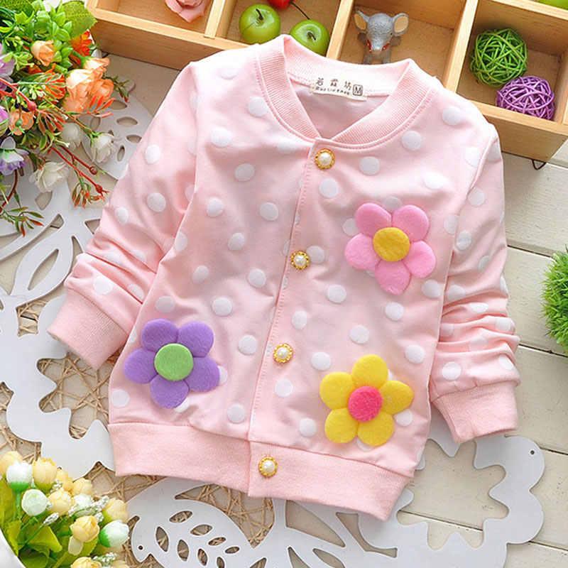 봄 2018 신생아 유아 소녀 의류 면화 꽃 양털 후드 겉옷 아기 소녀 스포츠 코트 스웨터