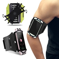 ROCK Rotatable Waterproof Phone Armband Arm Bag Belt Sport Running Key Holder Pouch Case For IPhone