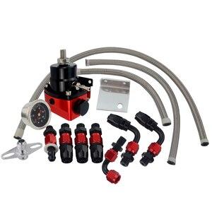 Image 5 - Vr preto & vermelho universal fpr an6 montagem efi regulador de pressão de combustível para 7 mgte mkii com linha de mangueira. fittings. gauge vr7842bkrd