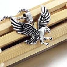 Fashion 316 stainless steel novelty Animal Eagle Pendant Men's necklace Chain Men Jewelry Christmas Gift