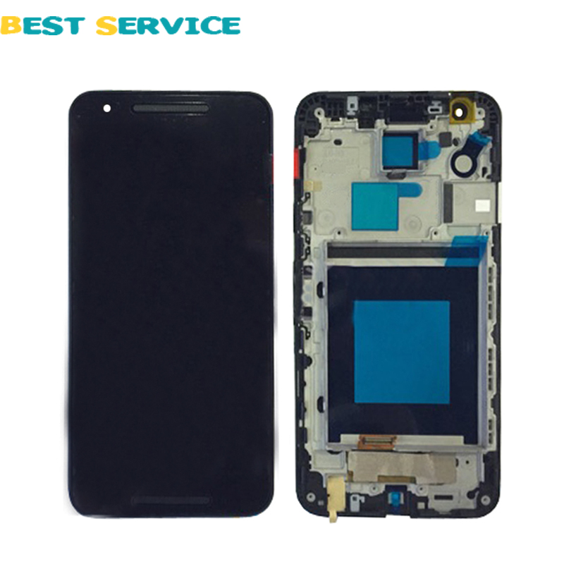 100% New For LG Google Nexus 5X H791 H790 LCD Display With Touch Screen Digitizer Assembly 5.2 Black LCD + Frame + Free Tools