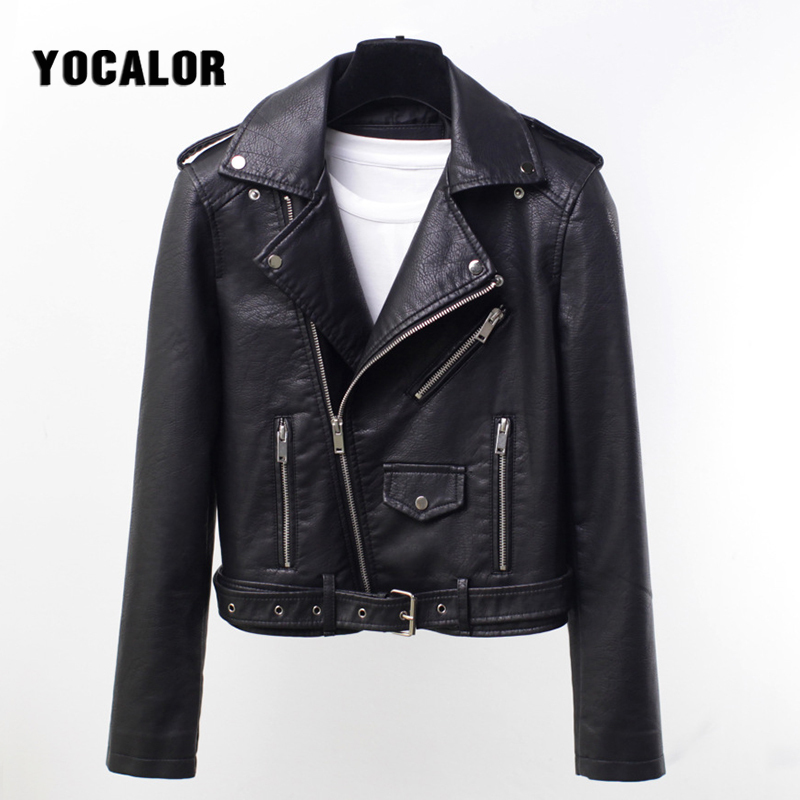 Large Sizes Locomotive Pu Leather Women Spring Autumn   Jacket   Female Bomber Loose Coat Jaqueta Feminina   Basic     Jackets   Shrug Za