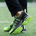 2017 Resorte de Alta Calidad Mosca de la Armadura Barato Las Mujeres y de Los Hombres Zapatos Casuales Zapatos Planos de La Manera Entrenadores Walking Transpirable Luz Suave pisos