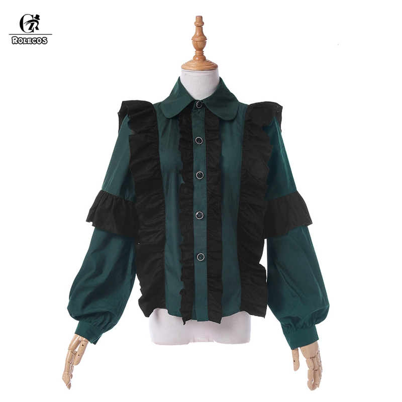 edaf294f219 ROLECOS Brand Lolita Women Shirt Gothic Lolita Tops Classical Blouse  Medieval Sweet Blouse SK Plus Size-in Lolita Dresses from Novelty   Special  Use on ...