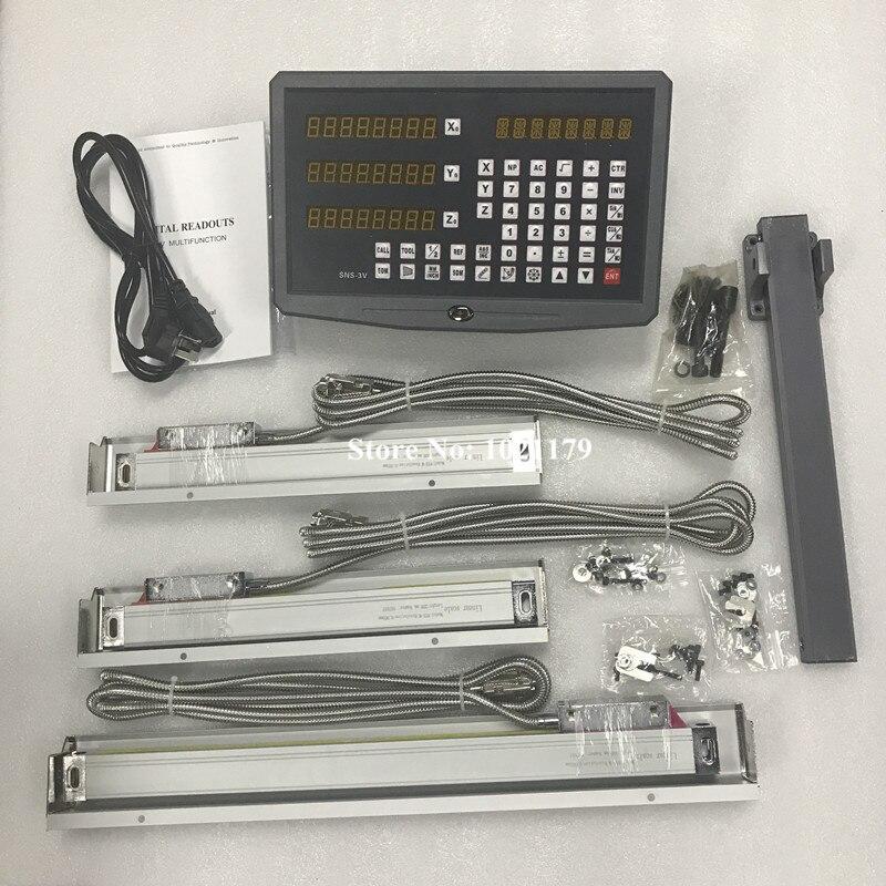 Precisão alta 3 eixo broca/torno/máquina de trituração digital readout dro e 3 peças escalas lineares/sensores lineares dro sistema