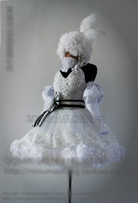Preto mordomo circo boneca wirewalking cosplay traje