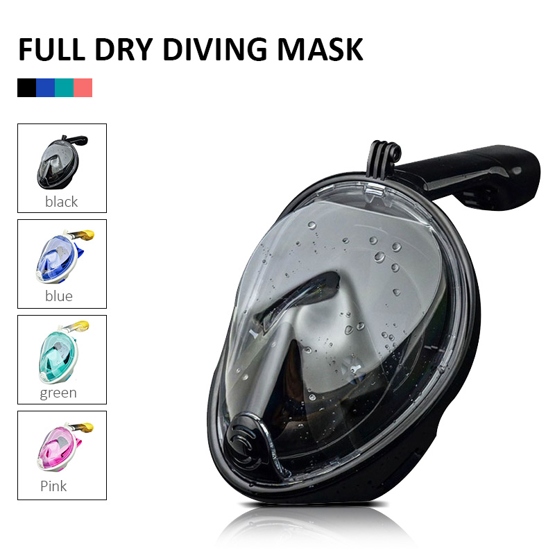 2019 Waterproof Underwater Diving Mask Full Face Diving Snorkling Scuba Mergulho Anti Fog Snorkeling for sjcam Camera-in Sports Camcorder Cases from Consumer Electronics