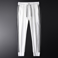Minglu Men Jogger Pants Luxury Fashion Side Contrast Color Casual Pants Men Plus Size 4xl Summer Slim Fit Sport Mens Trousers