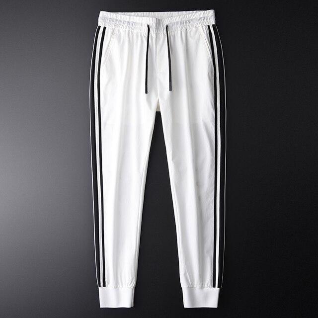 Minglu Men Jogger Pants Luxury Fashion Side Contrast Color Casual Pants Men Plus Size 4xl Summer Slim Fit Sport Mens Trousers