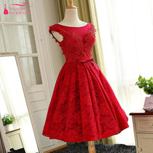 a4bfc000aac89 Red Lace Homecoming Dress Promotion-Shop for Promotional Red Lace ...