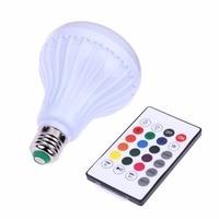 24 חכם מפתח 12 W E27 LED אור מנורה מרחוק בקר Bluetooth 3.0 רמקול מוסיקה שינוי בקר RGB אור הנורה