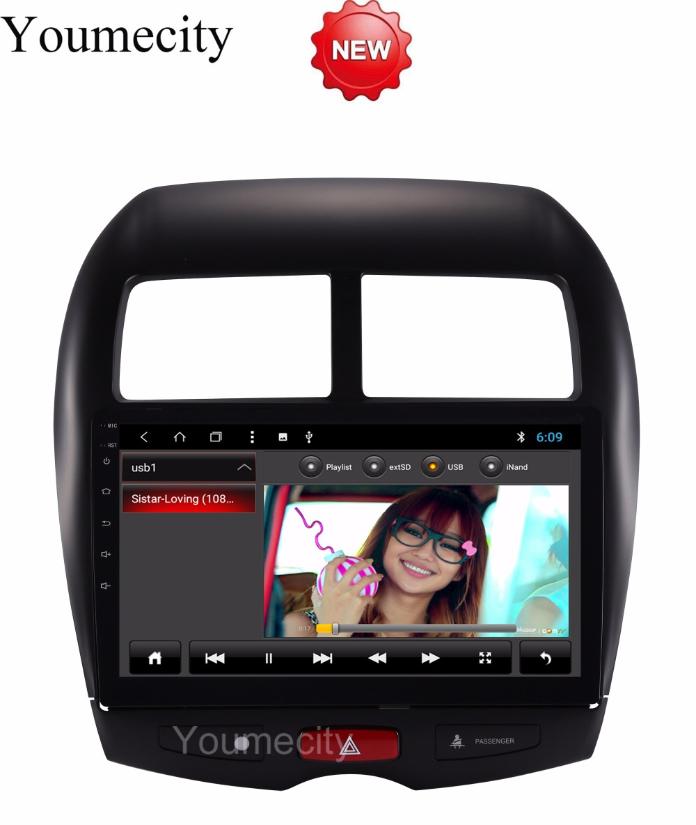 Youmecity!Octa Core Android 8.1 Car Dvd Gps Player For MITSUBISHI ASX 2010-2018 years Car Radio Video Stereo Audio Navigation