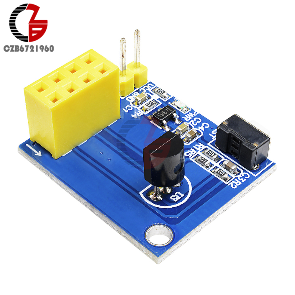 ESP8266 ESP-01 ESP-01S DS18B20 Wireless Wifi Converter Board Temperature Sensor Module Temperature Control For Arduino NodeMCU
