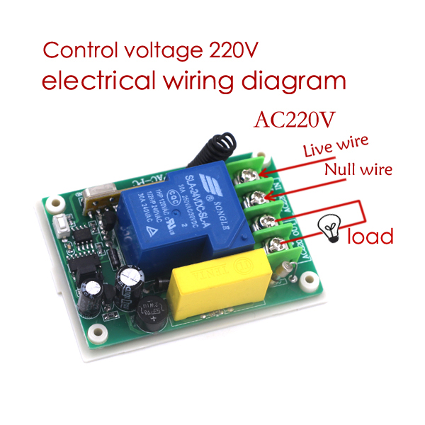 brand new 1 channel remote control switch box ac 220v 30a relay rh aliexpress com 120V Relay Switch 220V Float Switch with Relay