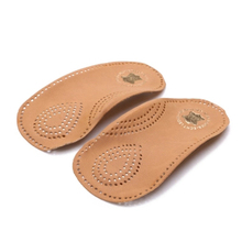 3/4 Orthopedic Half Insoles Arch Support Damping Flat Foot Protective X-Leg Correction Men Women Shoes Pads Cowskin Shoe Inserts