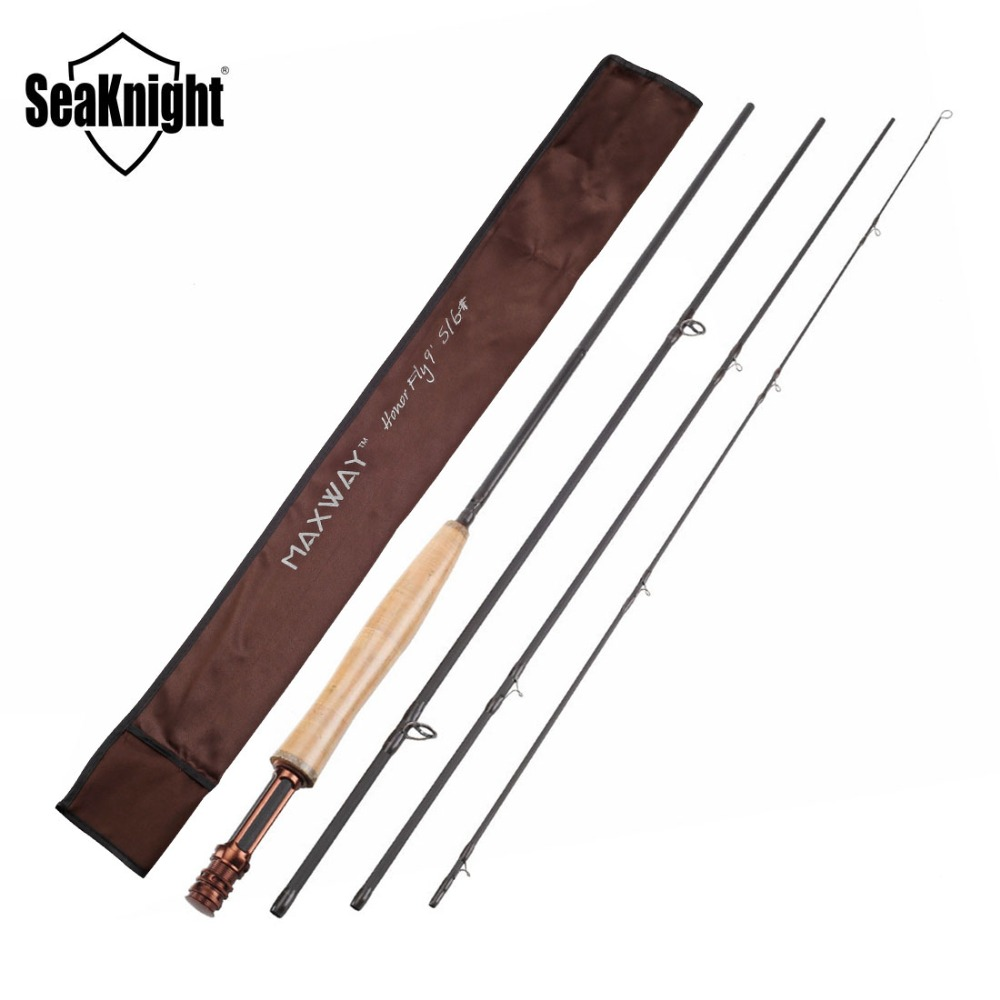New SeaKnight MAXWAY HONOR Fly Fishing Rod 5/6# 2.7M Hard Carbon Rod 4 Sections Super Light 97g Fast Action Fishing Tackle rsd motorcycle 5 hole beveled derby cover aluminum for harley touring flh t 2016 2017 for flhtcul and flhtkl 2015 2016 2017
