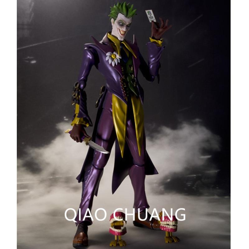 DC Cartoon Suicide Squad Justice League Arkham Asylum The Joker Batman Number One Enemy PVC Action Figure Model Toy 15CM G21 batman volume 2 joker s asylum