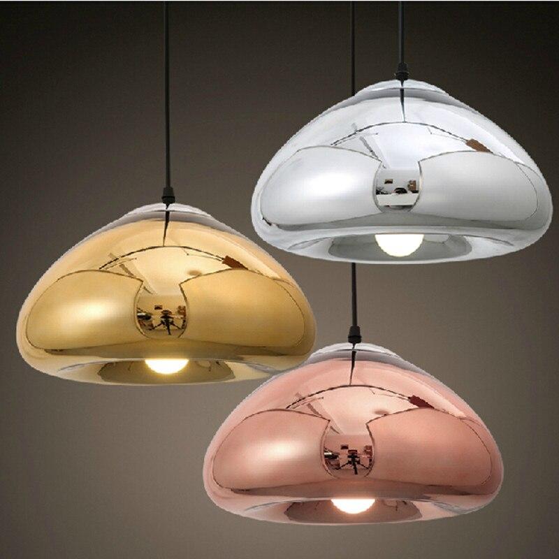Moderne pendelleuchte DIA18/30 cm glas Gold Silber und Kupfer ...