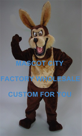 Big Brown Mean Coyote wolf Mascot Costume Cartoon Character Mascotte Outfit Suit Fancy Dress Party Carnival Cosply Costume SW682