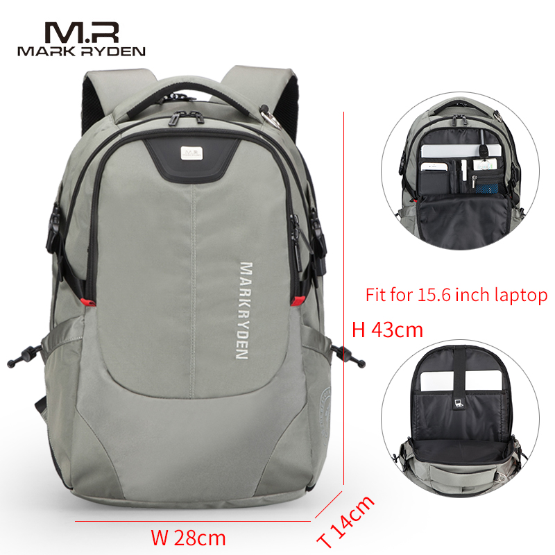 Mark Ryden Backpack Multifunction USB Charging Laptop Bag 4