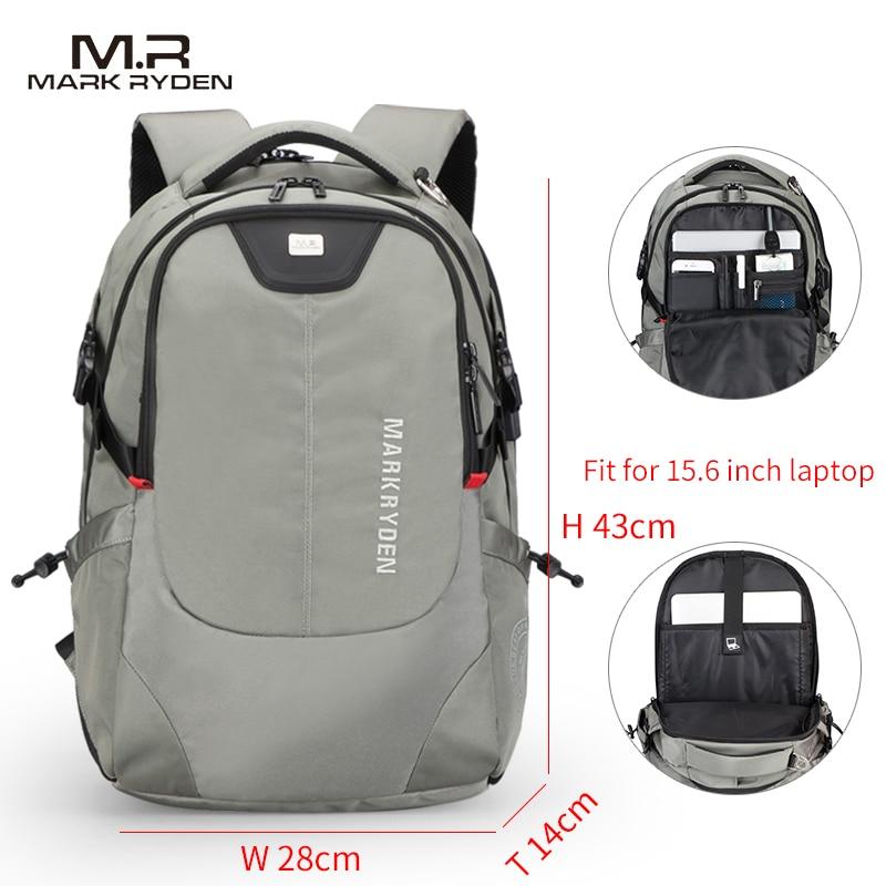 Multifunction USB Charging Men 15inch Laptop Backpacks Men's Bag 4