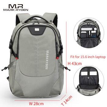 Mark Ryden Men's Backpack Fashion Multifunction USB Charging Men 15inch Laptop Backpacks Bisiness Bag For Men 4