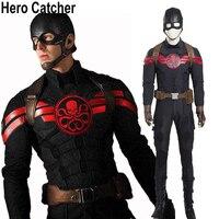 Герой Catcher высокое качество Гидра Капитан Америка костюм черный Капитан косплей костюм Гидра капитан костюм