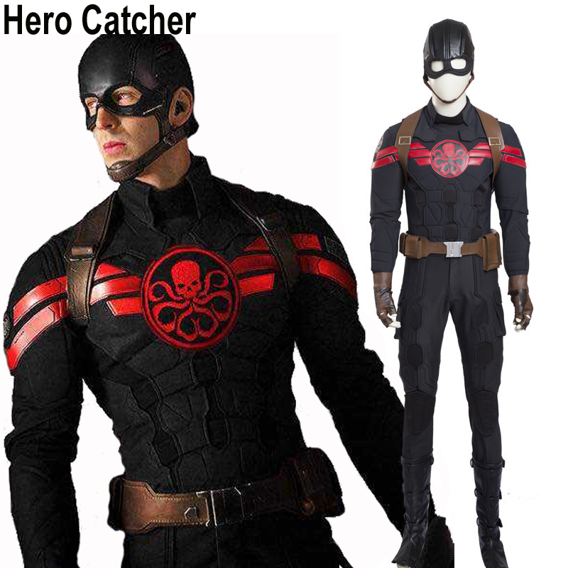 Hero Catcher High Quality Hydra Captain America Costume Black Captain Cosplay Costume Hydra Captain Costume