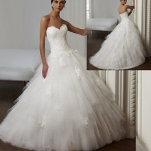 2015 Vestidos De Noiva Strapless Wedding Dress Ball Gown Tulle Ruffles Bridal Gowns Corset Back W3712