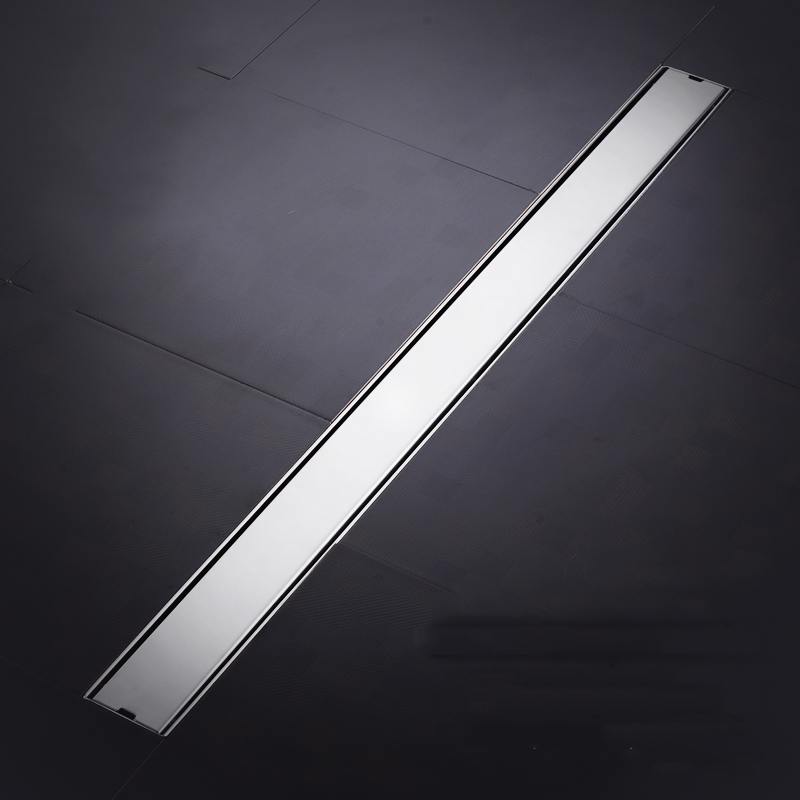 Tile insert stainless steel Side drainage floor drain bathroom kitchen shower double anti-odor floor drain Rectangle Hair filter wall drainage large traffic stainless steel 30cm bathroom surface titanium gold floor drain big flow rate refuse nasty smell