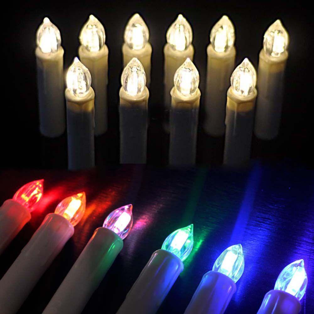70 piezas Multicolor electrónico parpadeante LED vela de Navidad luz hogar fiesta decoración con Control remoto - 5