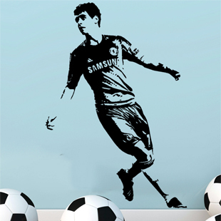 Wall Stickers Free Shippingfootball Wall Art Sticker Decal Bedroom Sports  Size870mm1260mm Z