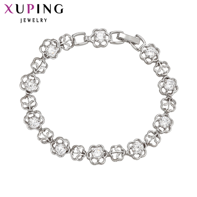Xuping יוקרה צמיד אירופאי אמריקאי מעודן כסף צבע מצופה גבוהה באיכות הטובה ביותר במפעל מחיר 72381