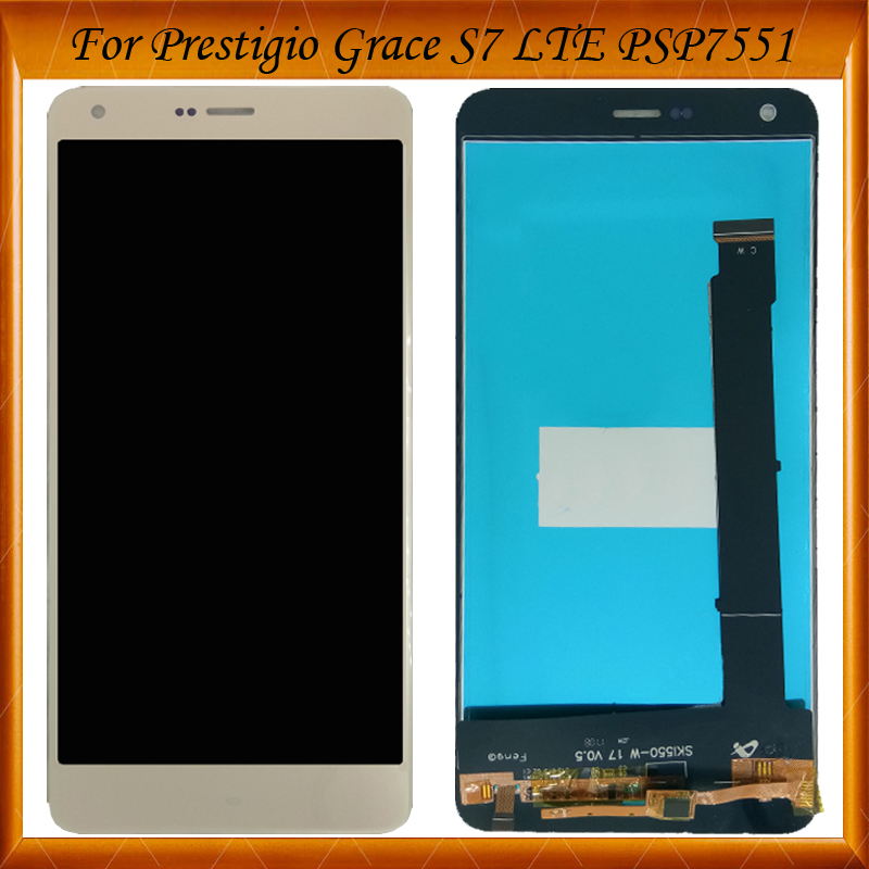 100% Working For Prestigio Grace S7 LTE PSP7551Duo PSP 7551 DUO 7551duo psp7551 LCD display and Touch Screen Assembly IN Stock