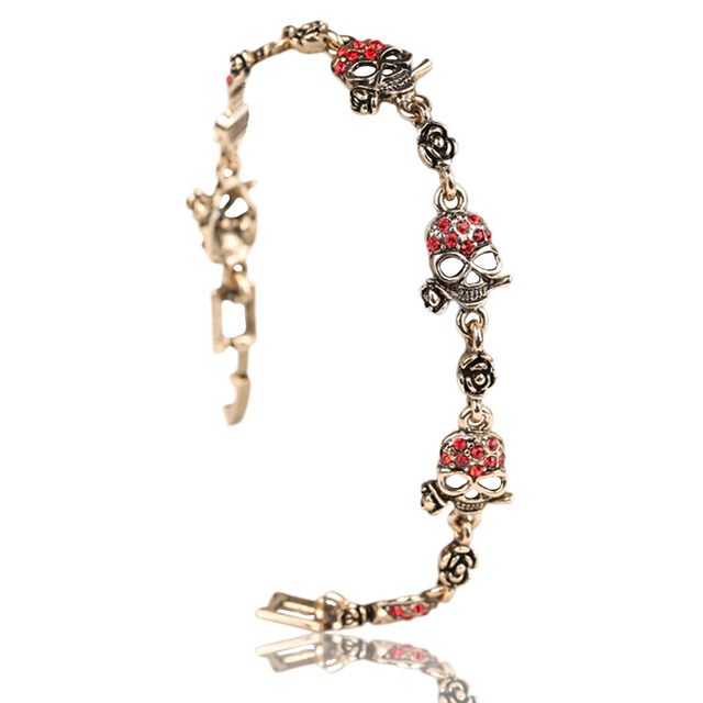 Famous Designer Jewelry For Women Skull Bronze Color Crystal