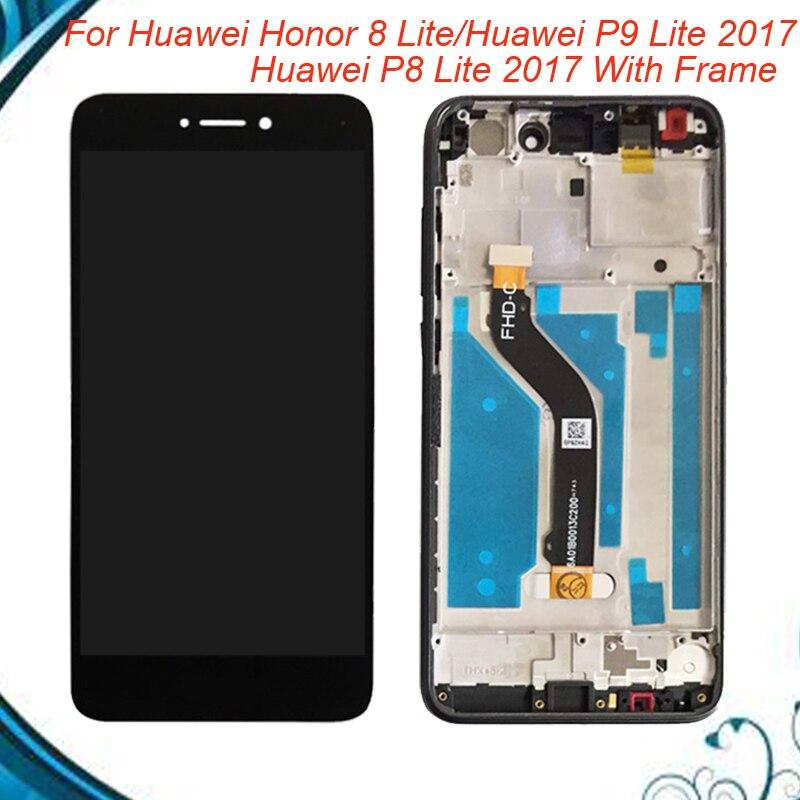 100% Testé OK Pour Huawei P8 Lite 2017/Honor 8 Lite/Huawei P9 Lite LCD Écran avec cadre Digitizer Remplacement EN Stock
