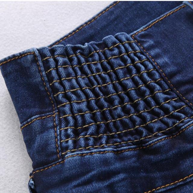 2017 High Waist Elastic Ladies Denim Long Pencil Pants – Plus Size 40 Waist