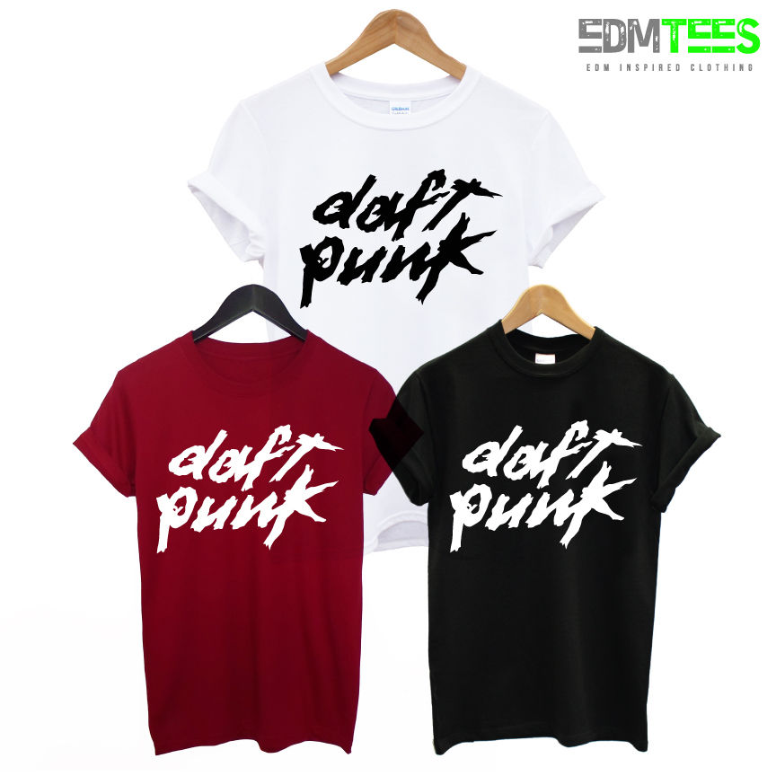 <font><b>DAFT</b></font> <font><b>PUNK</b></font> PRINTED MENS <font><b>T</b></font> <font><b>SHIRT</b></font> COOL ELECTRONIC HOUSE MUSIC ALIVE DANCE DJ TEE TShirt Tee <font><b>Shirt</b></font> Unisex More Size and Colors-A207 image