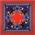 100 * 100 new metal chain animal head design high-end cold women's scarf silk scarf scarf