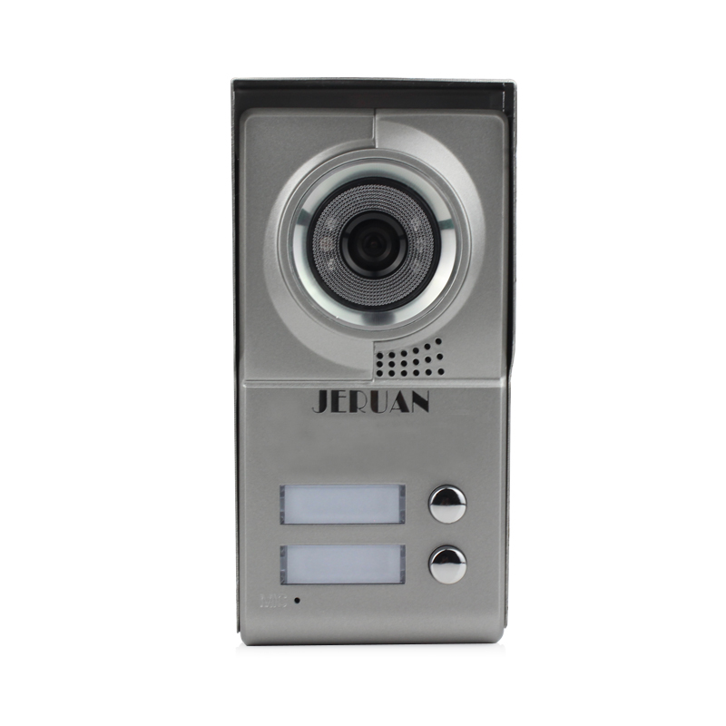 JERUAN New Metal Multi-unit Video Door Phone Intercom System Camera Only In The Outdoor +for Two-families