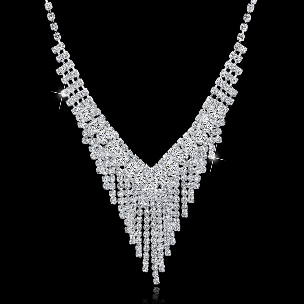 TOUCHEART Vjenčanje afrički perle nakit, kristalno srebrna boja, - Modni nakit - Foto 3