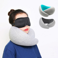 IHAD U Shape Pillow Health Care Memory Foam Support Head Neck Pillow Plane Car Home Office Comfortable Nap Pillows Easy to carry