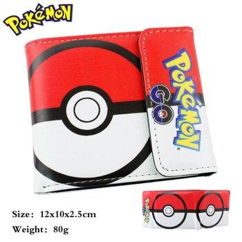 Hasp women's wallets cartoon pokemon purse female pikachu kids gift Pocket Monster game wallet cion purse free shipping Kids Wallets