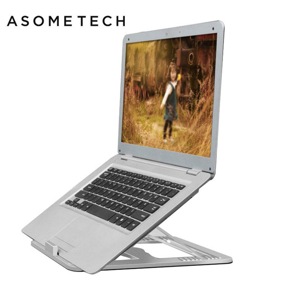 10 engrenages réglable en aluminium support d'ordinateur portable support Suporte pour Macbook Air Pro 13.3 15.4 refroidissement bureau bureau Dock Riser support plateau